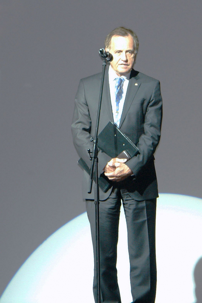 Заместитель Министра культуры РФ Андрей Бусыгин выступает на церемонии вручения Премии имени Якова Чернихова