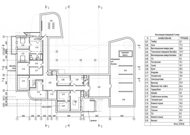 План 0 (подвального) этажа