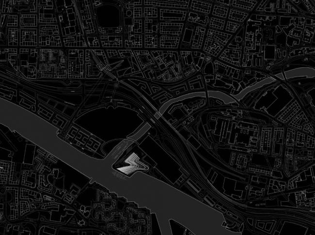 Музей Риверсайд. Ситуационный план © Zaha Hadid architects