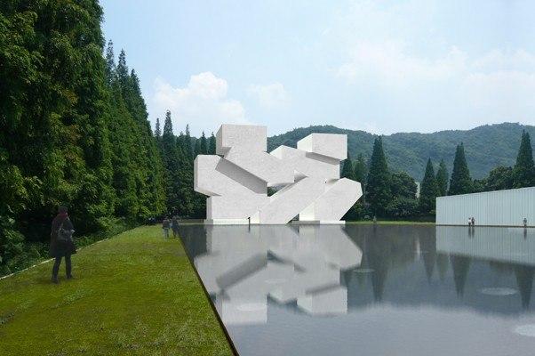 Hangzhou Music Museum, Hangzhou, China, 2009 Rendering © Steven Holl Architects