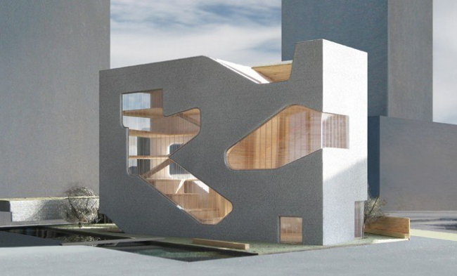 Queens Library, New York Rendering © Steven Holl Architects