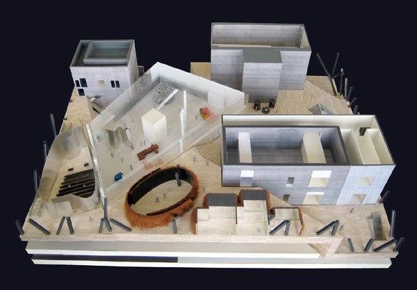 Museum Plaza, Луисвилл, Кентукки, США Макет музея на уровне плазы Фото © Luxigon