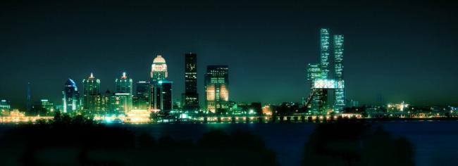Museum Plaza, Луисвилл, Кентукки, США Визуализация © Luxigon