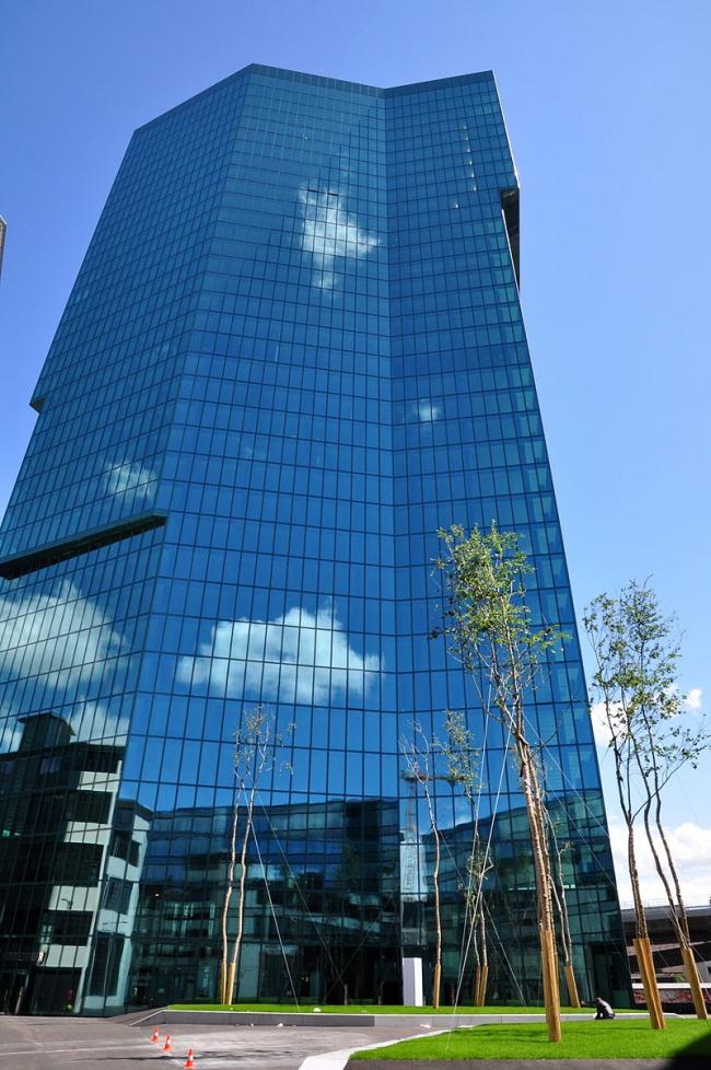 Башня Prime Tower. Фото: Roland zh via via Wikimedia Commons. Лицензия CC BY-SA 3.0