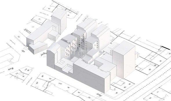 Студенческое общежитие в Париже © LAN Architecture