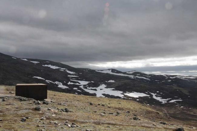 «Тверрфьелльхютта» – павильон Центра диких северных оленей © Snøhetta