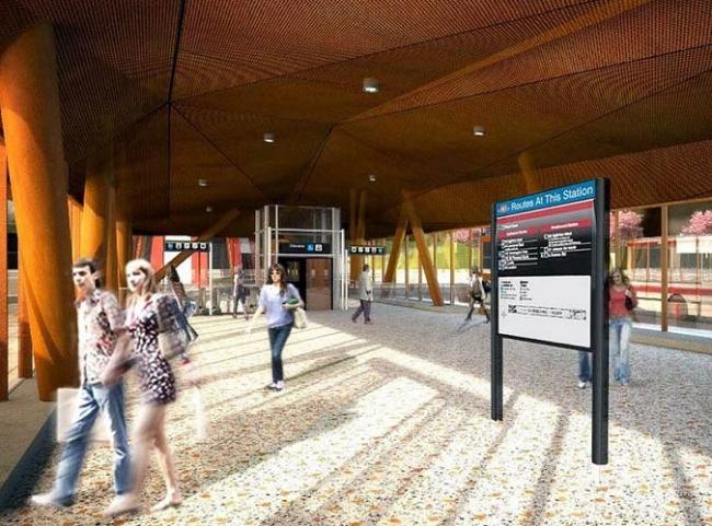 Станция метро «Стилс-Уэст». Автобусный терминал © ТТС