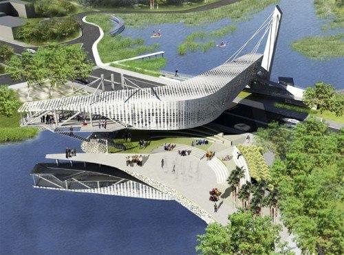Мост-музей в Вильяэрмосе - MUSEVI © TEN Arquitectos