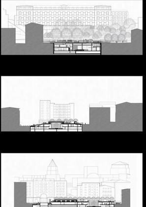 Франк Аммутен. Реконструкция комплекса марсельской Ратуши. Разрезы © Franck Hammoutene