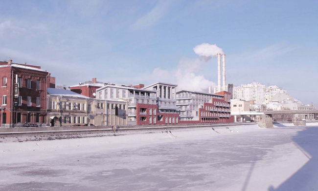 Архитектурная концепция жилого комплекса на Болотной набережной