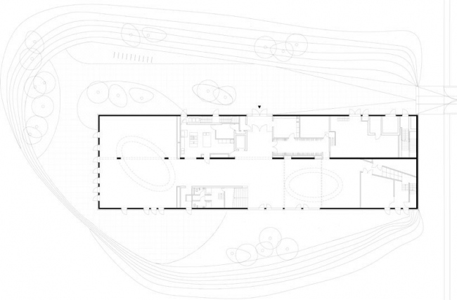 Синагога LJG. План уровня 0 © SeARCH