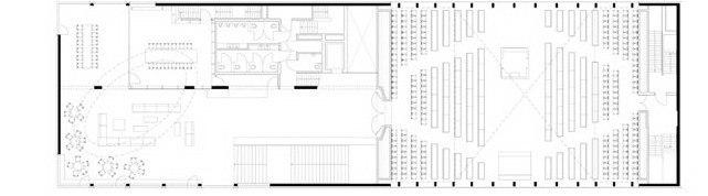 Синагога LJG. План уровня 2 © SeARCH
