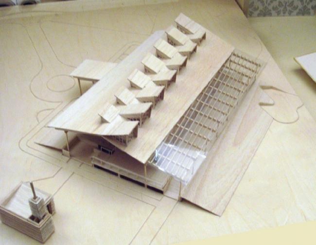 Гольф-клуб в Пирогово. Макет © Архитектурная мастерская Тотана Кузембаева