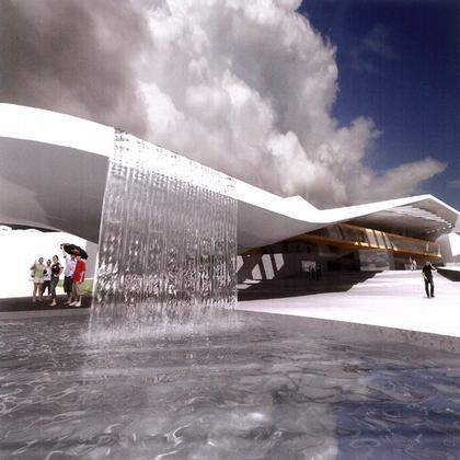 Академия художеств в Бергене. Конкурсный проект © Snøhetta