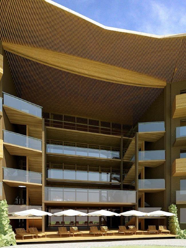Гостиница 4 звезды © Архитектурная мастерская Тотана Кузембаева