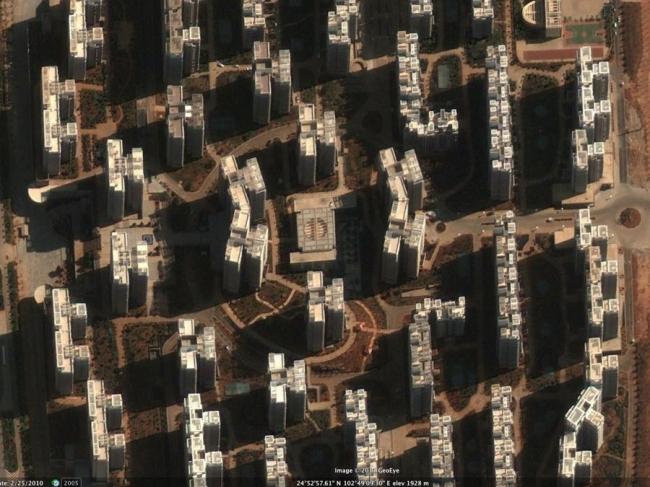 Малая часть пустующего «жилого фонда» города Чэнгун, составляющего 100 000 квартир. Фото World Bank