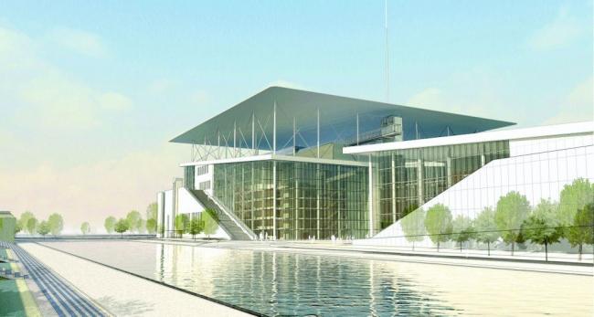 Культурный центр Фонда Ставроса Ниархоса. Окончательный проект © Stavros Niarchos Foundation