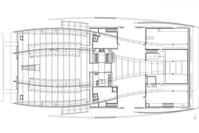 Винодельня Шато Шеваль-Блан. План антресольного этажа © Atelier Christian de Portzamparc