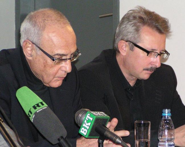 Председатель жюри Элиа Зенгелис и член жюри Георги Станишев