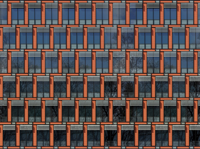 Бизнес-центр «Marr Plaza». Главный фасад. Реализация, 2008 © Архитектурная мастерская «Группа АБВ»