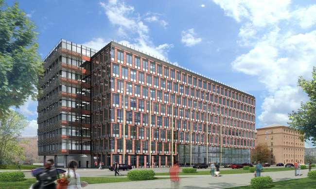 Бизнес-центр «Marr Plaza». Проект, 3D. Реализация, 2008 © Архитектурная мастерская «Группа АБВ»