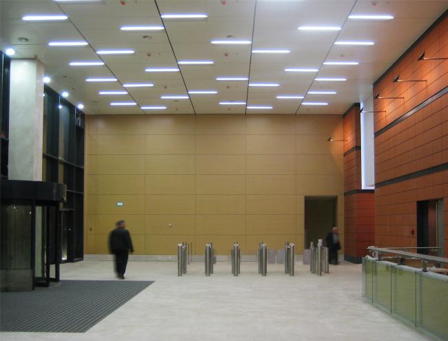 Бизнес-центр «Marr Plaza». Интерьеры (фотография). Реализация, 2008 © Архитектурная мастерская «Группа АБВ»