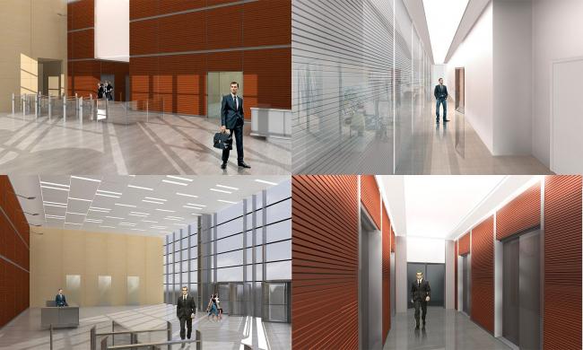 Бизнес-центр «Marr Plaza». Интерьеры (проект). Реализация, 2008 © Архитектурная мастерская «Группа АБВ»