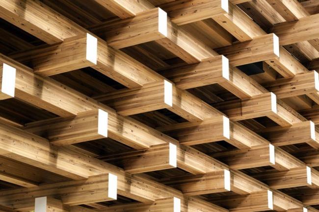 Деревянный мост-музей в Юсухара © Kengo Kuma & Associates