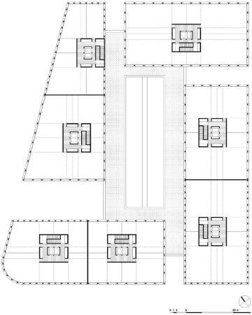Комплекс Solids. План типового этажа © Baumschlager Eberle