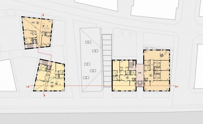 План пятого этажа