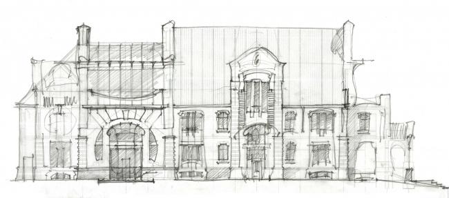 Дом в Пирогово. Парковый фасад