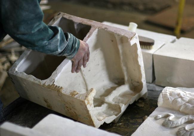 Процесс изготовления рельефов