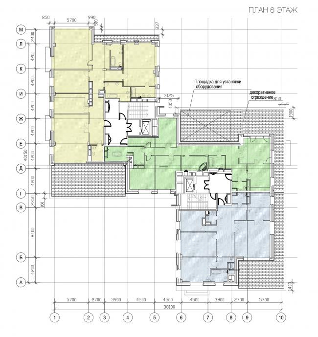 План 6 этажа