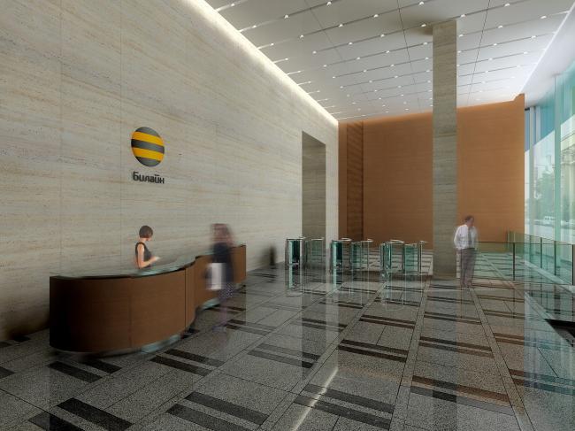Бизнес-центр «Волна Tауэр». Реализация, 2005 © Архитектурная мастерская «Группа АБВ»