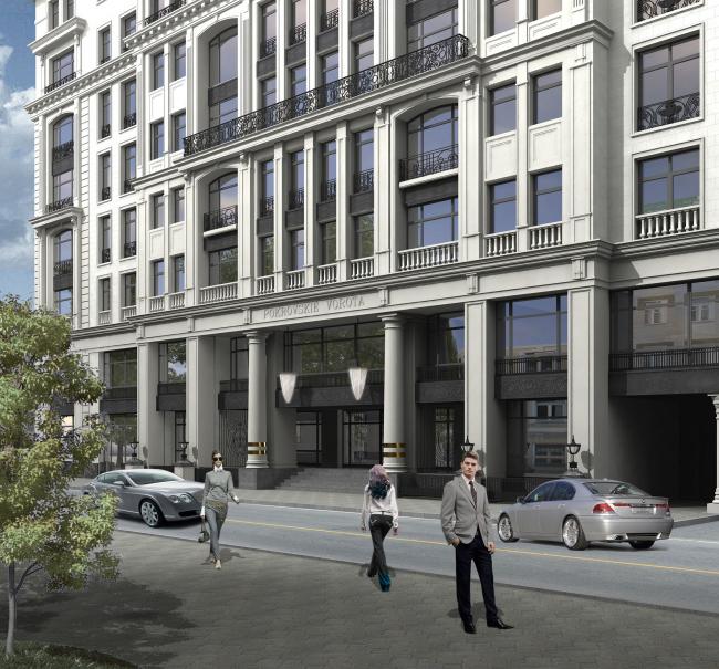 Жилой комплекс «Дом на Покровском бульваре». Реализация, 2007 © Архитектурная мастерская «Группа АБВ»