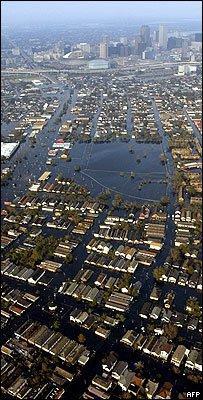 Затопленные районы Нового Орлеана