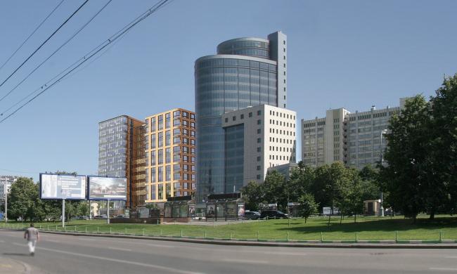 Офисное здание на улице Коровий вал. 3D-визуализация. Проект, 2011 © Архитектурная мастерская «Группа АБВ»