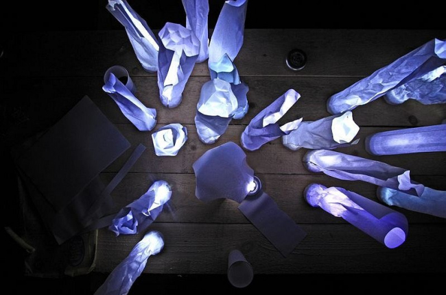 Репетиция световой инсталляции на Архферме
