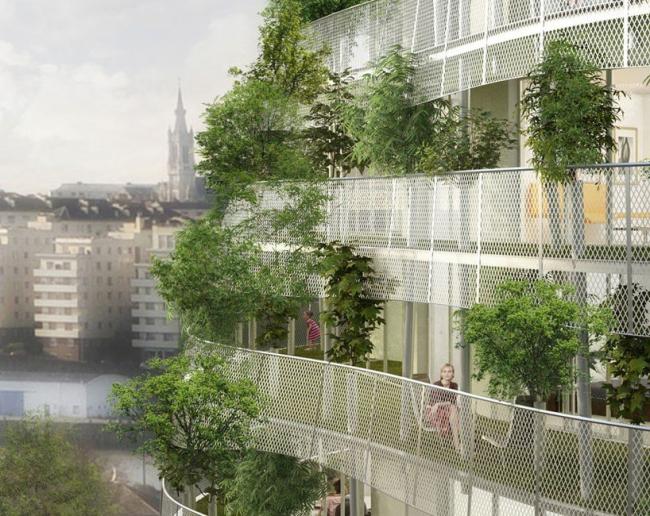 Башня Tour vegetale © Edouard Francois