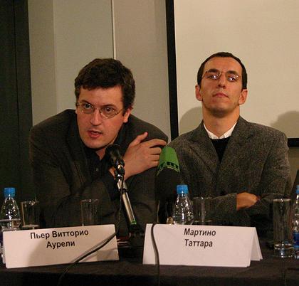 Лауреаты премии Пьер Витторио Аурели(слева) и Мартино Таттара