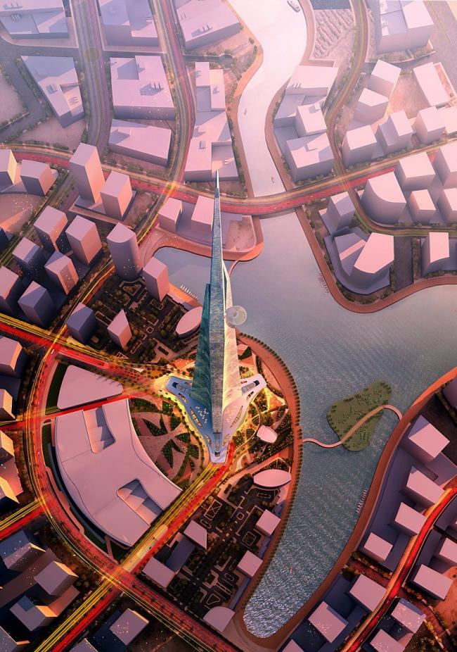 Башня Kingdom Tower © Adrian Smith + Gordon Gill Architecture