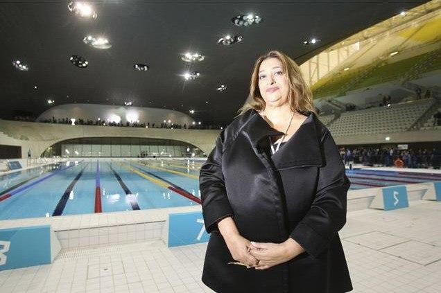 Заха Хадид в Олимпийском центре водных видов спорта © ODA