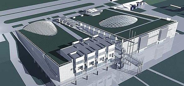 Спортивный комплекс теннисного центра, первоначальный проект, 1998-1999