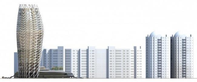 Многоквартирный жилой дом с общественным обслуживанием, Капатун Екатерина, 1 место в номинации «Многоквартирный дом для молодежи»