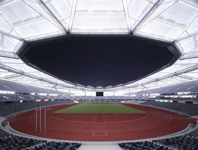 Спортивный центр Универсиады 2011. Вид поля © Christian Gahl. Предоставлено gmp