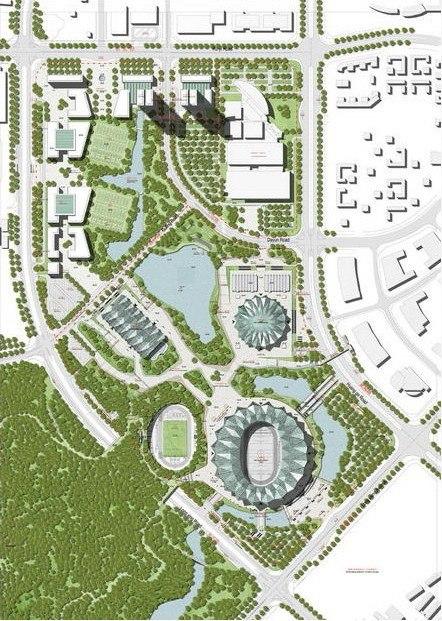 Спортивный центр Универсиады 2011. Генплан © gmp