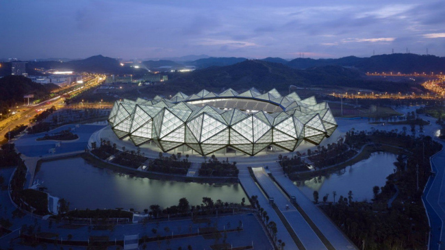Спортивный центр Универсиады 2011 © Christian Gahl. Предоставлено gmp