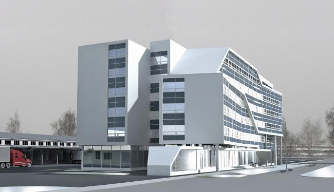 Гостиница с офисными помещениями в Зеленограде © ПТАМ Виссарионова