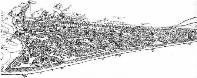 Графическая реконструкция Ярославского кремля на XVII век. В.Ф. Маров