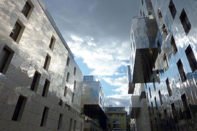 Жилой комплекс Лион-Конфлуанс . © Massimiliano Fuksas Architetto